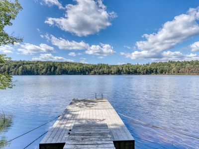 Photo for Lakefront home w/ beautiful water views! Dock and canoes available- dogs OK!