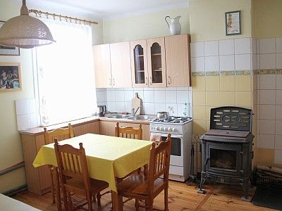 Living area/kitchen. Here also an openable sofa for 1-2 persons