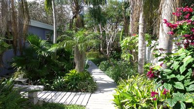Pathway to private cottage