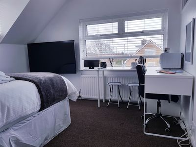 Photo for York Double, Ensuite, Wi-Fi, 55 inch TV, Fridge & Microwave