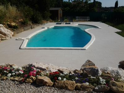 Photo for Nice modern villa with pool, 20 minutes from Montpellier
