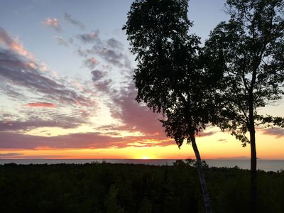 Photo for RELAX with AMAZING sunsets overlooking Green Bay ~Close to beach, town, winery