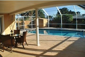 BRAND NEW POOL WITH LANAI/ DINING AREA WITH BBQ, CHAIRS, POOL TOYS