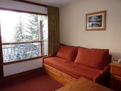 Photo for Apartment 4/5 people at the foot of the slopes, Les Arcs 1800