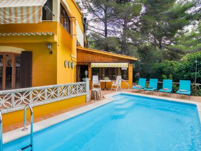 Photo for Beautiful private villa for 8 guests with private pool, WIFI, A/C, TV, balcony and parking
