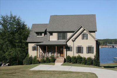 Our home was custom built in 2009 & offers luxury & unlimited views of lake!