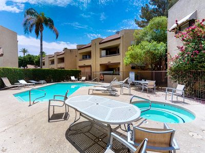 Photo for NEW LISTING! Comfy, dog-friendly condo w/shared pool, hot tub, fitness center