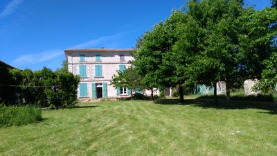 Photo for Immense Logis du 19ème, Charente-Maritime, 4 bedrooms, swimming pool, playground ping-pong