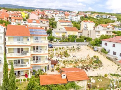 Photo for Apartment with great sea views, facilities and large garden plot in Crikvenica