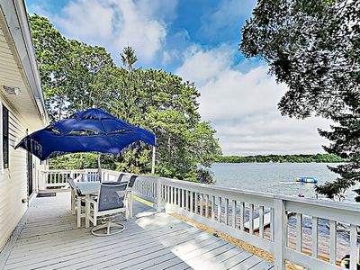 Photo for Chic Renovation on Johns Pond — Idyllic Waterfront Views, Dock, Private Beach