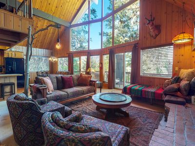 Photo for NEW LISTING! Dog-friendly home w/deck, fireplaces, pool table & mountain view