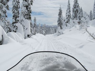 Snowmobile View--part of the adventure!