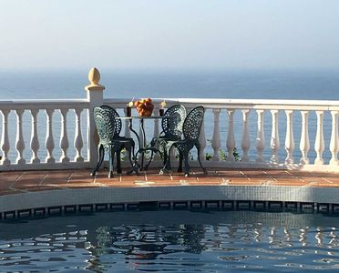 Photo for Amazing villa with panoramic sea views close to the sea