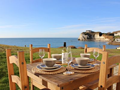 Photo for Contemporary 2 bedroom beachside apartment looking out over Freshwater Bay