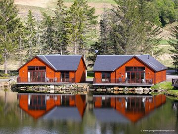 """Glengoulandie Lodges - On The Waterfront""   - Rainbow Lodge, Dragonfly Lodge & Eagle Lodge."