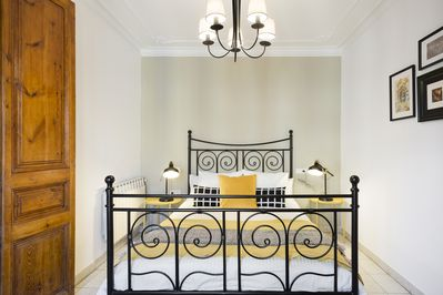 Master bedroom with one double bed
