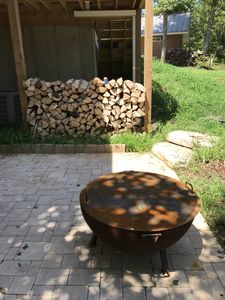 Private outdoor fire pit.
