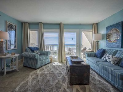 Photo for 108- Bright and cheery REMODELED BEACH FRONT condo Destin Seafarer