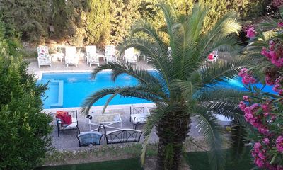 Photo for small paradise, villa, pool, 400M Nice beach, the countryside in the city center.