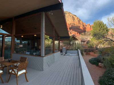 Photo for Dynamite Red Rock Views w Spa & gas fire-table