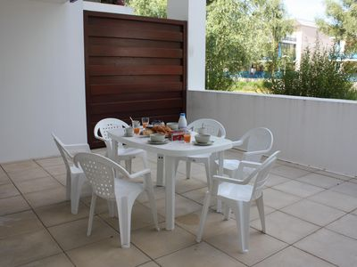 Photo for Joli T2bis renovated nearest beach, large terrace, comfortable