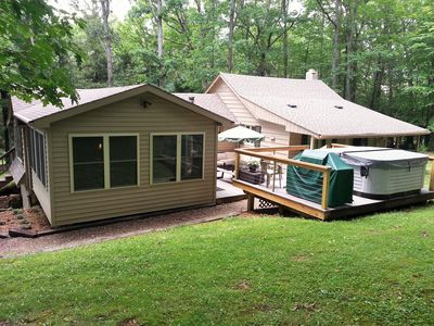 Photo for Turning Leaf Lodge--Cozy Cottage with Hot Tub/Spa  in Ohiopyle.