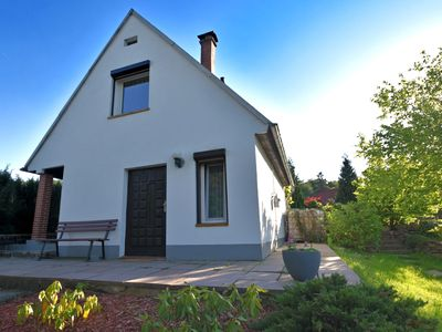 Photo for Detached, cosy holiday home in the Harz region with a big garden, fish pond and garden shed.