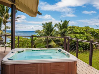 Photo for Beachfront estate with private hot tub - allows weddings/events!