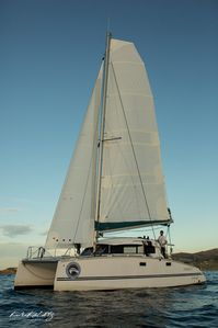 Photo for Romantic night in a Catamaran to sleep in the port of Bermeo.