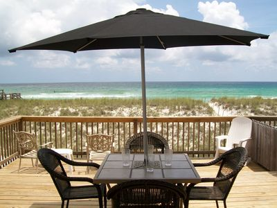 Have your meals on the expansive deck with plenty of room for your entire group!