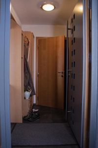 The wardrobe in the hall creates space in the apartment. It is typical used for shoes and jackets.