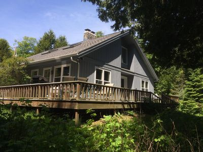 Photo for ⭐ Remodeled, 2 Acres w/200' Private Waterfront, Huge Deck, 5 ⭐