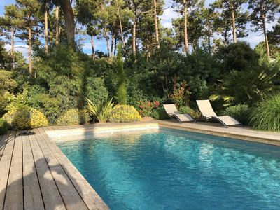 Photo for Villa for 10 persons with heated swimming pool 10 by 4 among the pines
