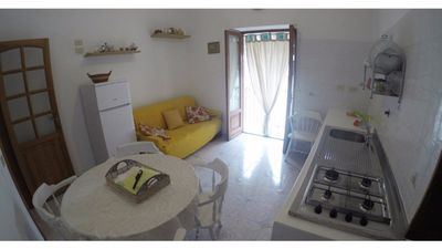 Photo for Comfortable apartment with sea view terrace in Lipari, Sicily