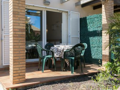 Photo for 2 bedroom house with private garden and shared pool in Mas Pinell (H55)