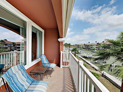 Photo for Waterfront Townhome in Gated Community w/ Pools, Patio, Balcony & Golf Course