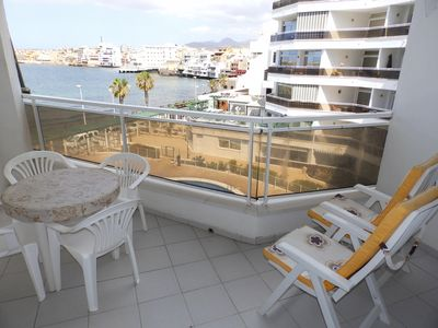 Photo for Beachfront Apartment With Wifi, Pool And Sea Views In El Medano