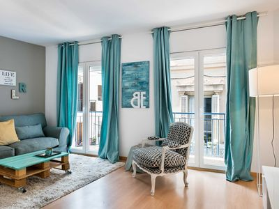 Photo for Be Apartment - Elegant luxury apartment. 2 bedrooms and 2 bathrooms. Located in the center of Sitges, close to the leisure and shopping areas