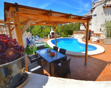 Photo for Fiesta~Siesta in this easy to access Moraira home with unique bedrooms and BBQ