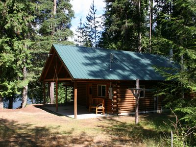 Photo for Private Lake Front Log Cabin & Dock