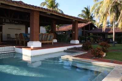 Swimming pool, lanai and garden