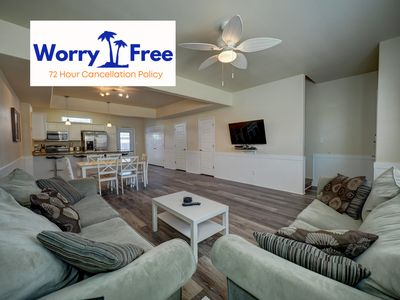 Photo for Pet-Friendly 3/2.5 Townhouse close to the beach with saltwater pool.