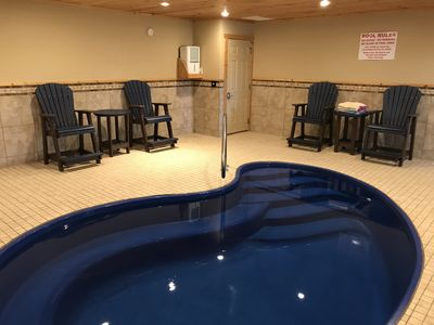 Photo for Luxury Wear's Valley Cabin, 2 Master BR's, Indoor heated pool, Hot tub +more!!