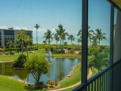 Photo for BEACH FRONT, LANAI W VIEWS, TOTAL UPDATE, 2 MIN. WALK TO BEACH & POOL. COV PARK