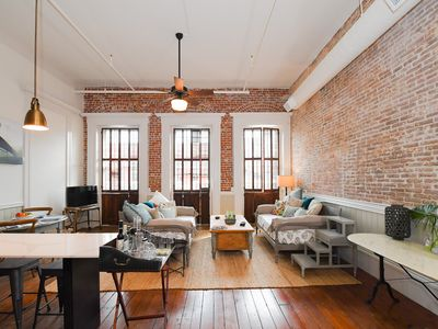 Photo for Gorgeous Downtown Loft with Balcony on Historic Strand! Book for your cruise!