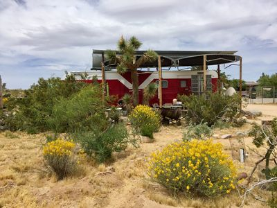Photo for Red Rocket Vintage Trailer at The Buzzards Roost Permaculture Ranch