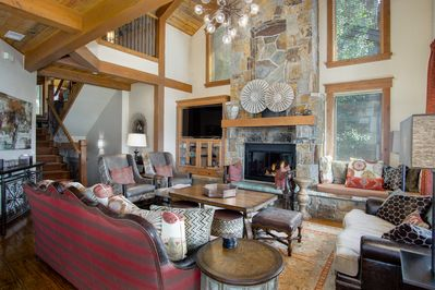 Living Area in Luxury Steamboat Springs Townhome