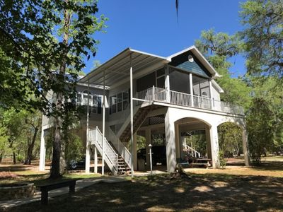 "Photo for ""RIVER WATCHER"" LUXURY SUWANNEE RIVERFRONT 3 BED 3 BATH ON QUIET 6+ACRES(1 of 3)"