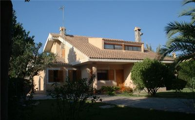 Photo for Detached Luxury Secluded Villa with Private Pool. Sleeps 10- close to sea.