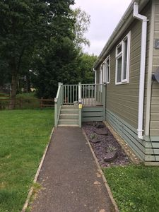 Photo for 2 Bedroom Luxury Lodge With Hot Tub at Woodlands Park